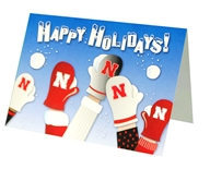 Happy Holidays Mittens Card