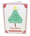 Husker Christmas Tree Card