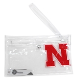 Husker Fan Clear Ticket Wristlet