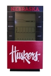 Husker Script Weather Station Desk Clock