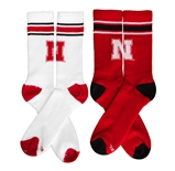 Huskers Home And Away Crew Sock Pack