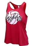 Huskers Homespin Volleyball Tank
