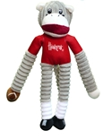 Huskers Sock Monkey Pet Toy