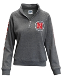 Huskers Womens Sanded Quarter Zip - Charcoal