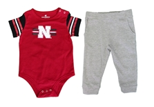 Infant Captain Football Huskers Onesie