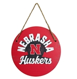 Iron N Nebraska Huskers Wood Hanging