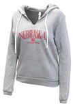 Ladies University of Nebraska Fleece Hoodie