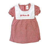 Lil Gals Huskers Checkered Dress