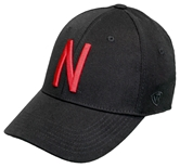 Memory Fit Skinny N Huskers Hat - Black