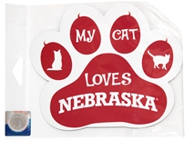 My Cat Loves Nebraska Magnet