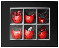 Nebraska Baseball Batting Helmet Matted Print