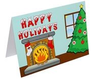 Nebraska Holidays Fireplace Card