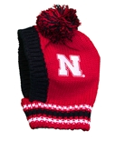 Nebraska Knit Pet Cap