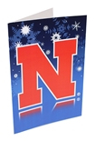 Nebraska Snowflake Christmas Card