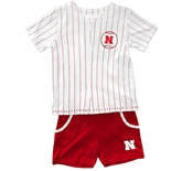 Nebraska Toddler Barney Baseball Set