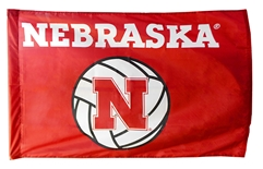 Nebraska Volleyball Flag w Sleeve