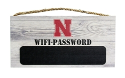 Nebraska Wifi Password Fiberboard Sign