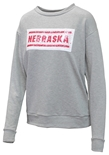 Nebraska Womens Reverse Sequin Sweatshirt