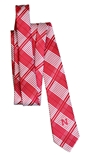 Red N Logo Skinny Plaid Tie