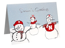 Seasons Greetings Snowmen Card