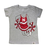 Toddler Gals Husker Cheerleader Tee
