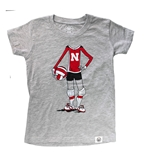 Toddler Girls Nebraska Volleyball Player Tee