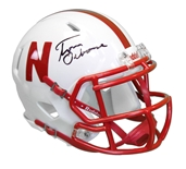 Tom Osborne Autographed Huskers Speed Mini Helmet