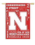 University Of Nebraska Fan Rules Flag