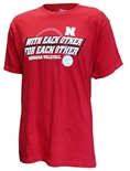 With Each Other Huskers Volleyball Tee