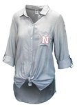 Womens Nebraska Breakaway Woven Nightshirt