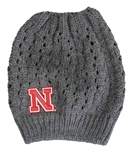 Womens Nebraska Ponytail Beanie