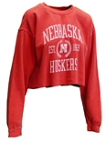 Womens Nebraska Huskers Dyed Crop