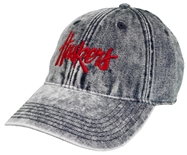 Womens Stone Washed Denim Huskers Lid