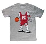 Young Fellas Husker Basketball Player Tee