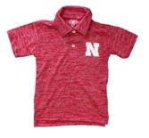 Young Huskers Cloudy Yarn Nebraska Polo