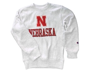 Youth Cornhuskers Reverse Weave Crew