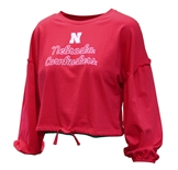 Youth Gals Cornhuskers Zara LS Top