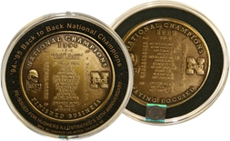 1994 1995 Back to Back Championship Coin
